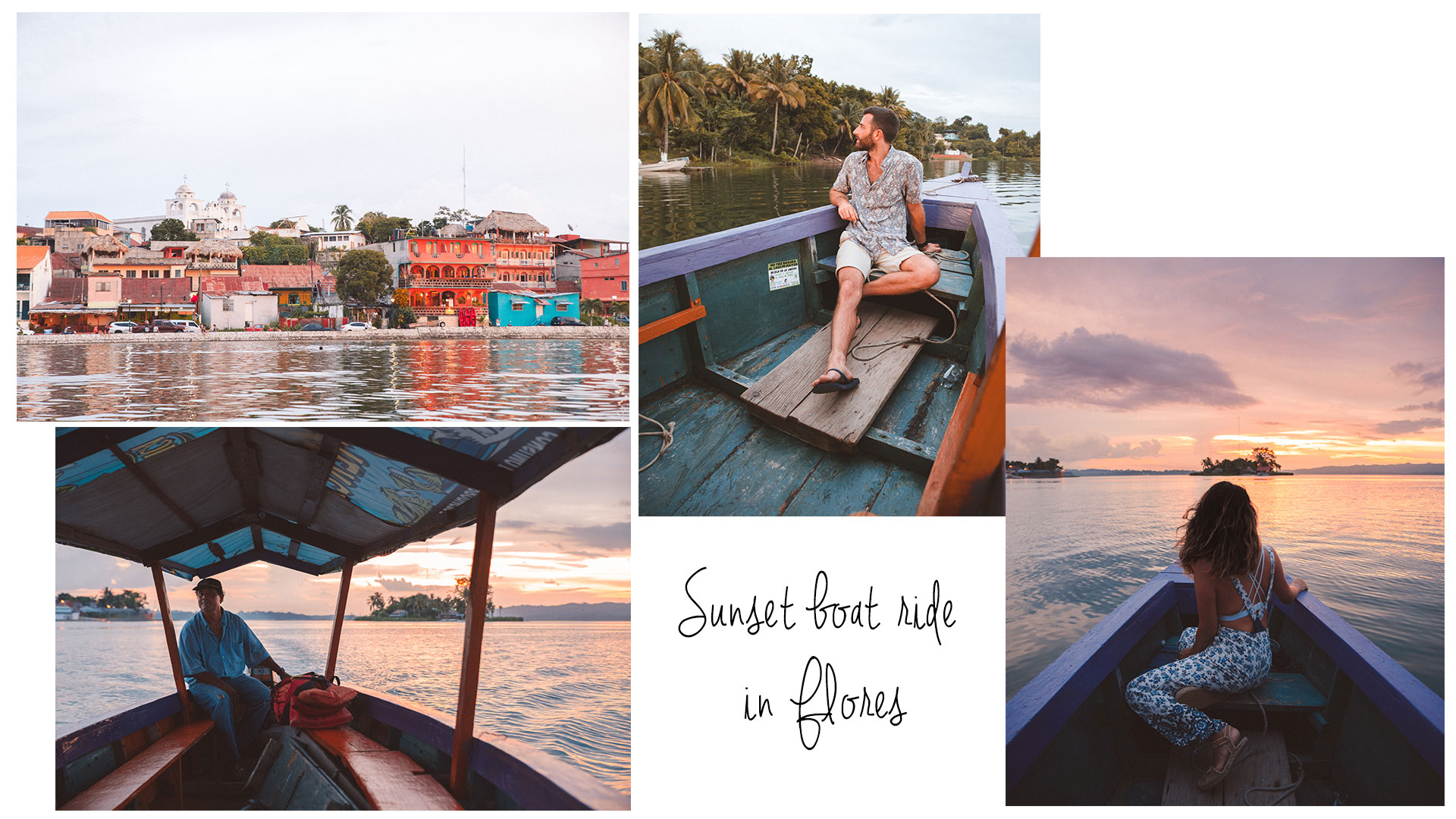 Sunset Boat ride in Flores Guatemala