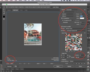 How to safe a gif on photoshop (for instagram)