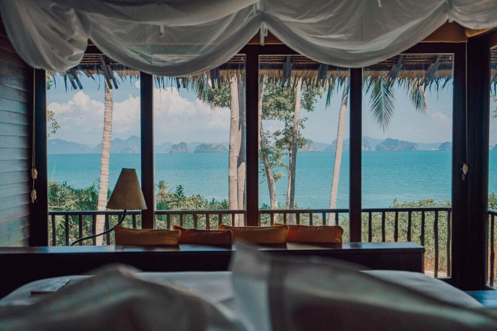 tropical hotel view six senses