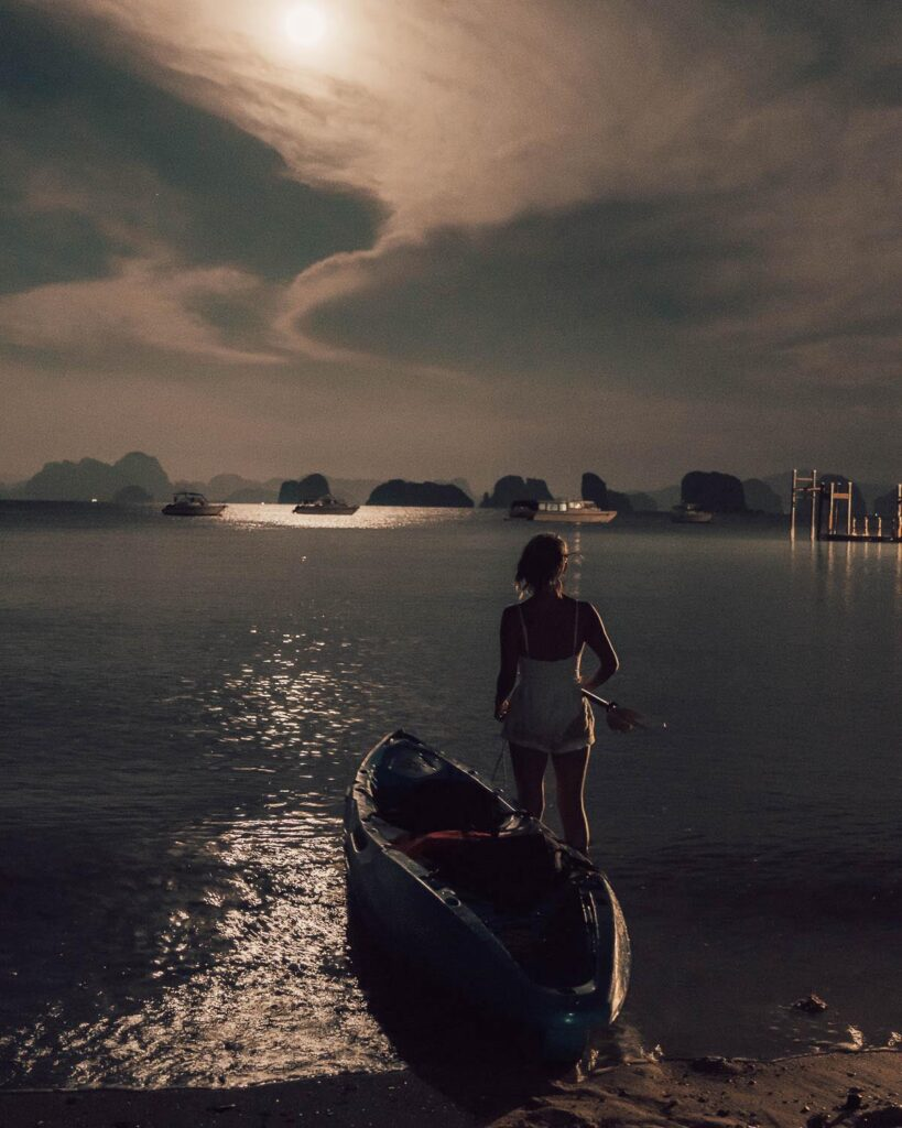 moonlight kayaking six senses  Thailand