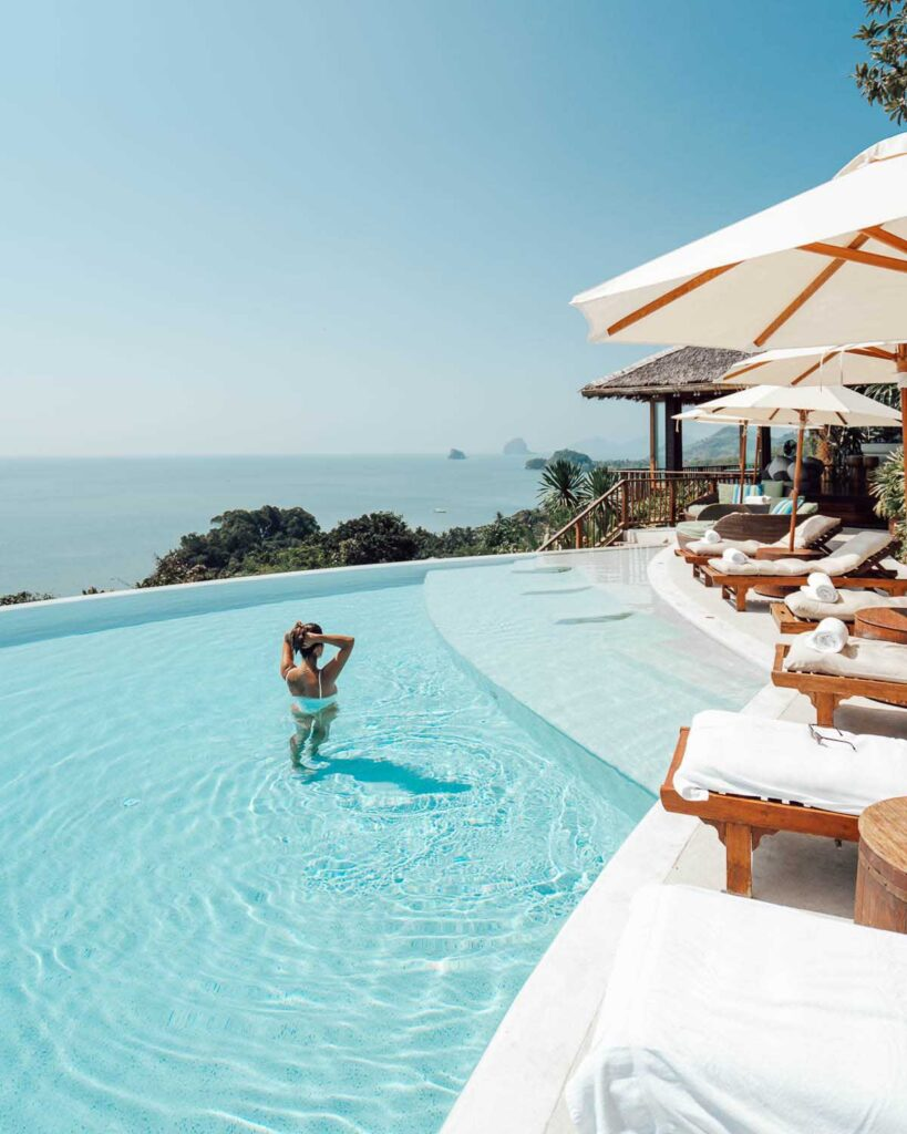 Hotel pool Six Senses Yao Noi Thailand