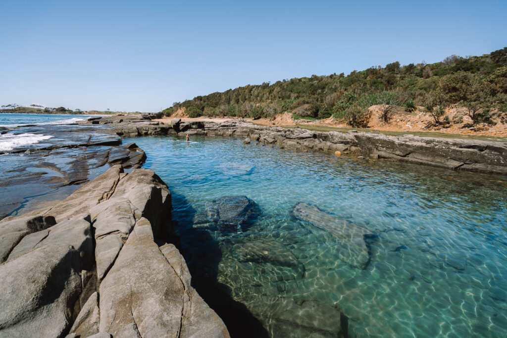 Angourie Blue rock pool