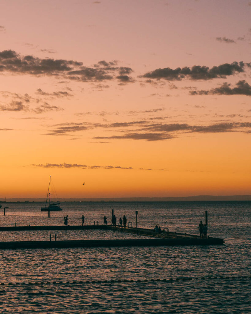 Busselton jetty sunset WA